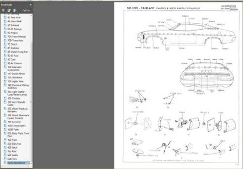 pay for ford falcon 1972-1974 xa xb gt gs fairlane zf zg parts book