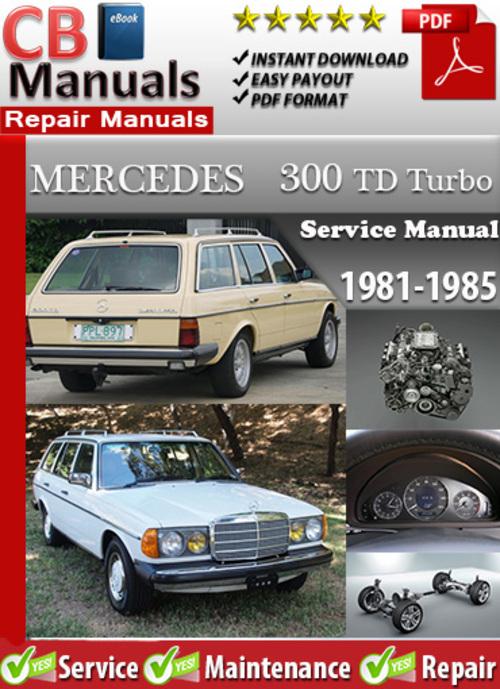Free Mercedes 300 TD Turbo 1981-1985 Service Manual Download thumbnail