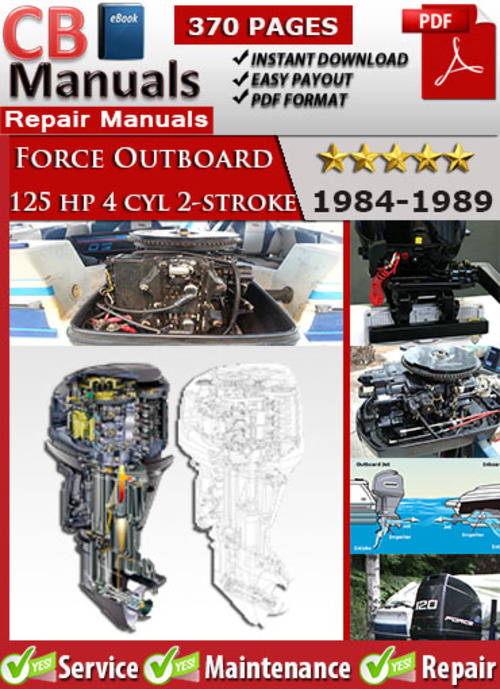 Force 125 hp 4 cyl 2-stroke 1984-1989 Service Manual