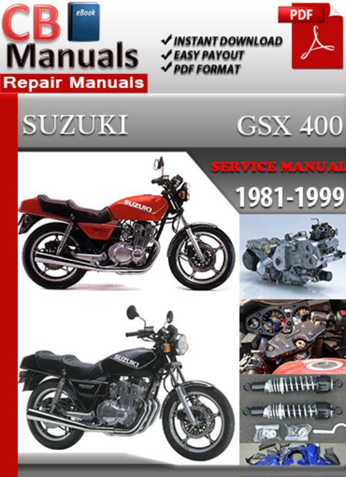 Pay for Suzuki GSX 400 1981-1999 Service Repair Manual
