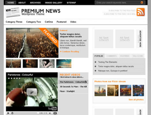 Pay for NewsPress Themes For News