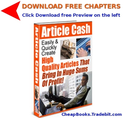 Pay for Article Cash with FREE CHAPTERS