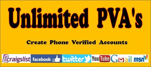 Pay for Unlimited PVA Phone Verified Accounts