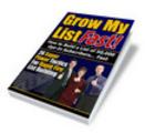 Thumbnail Grow My List Fast eBook