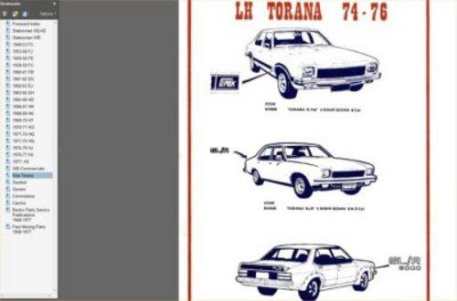Pay for GMH IDENTIFICATION GUIDE 1948-1987 HOLDEN MONARO GTS TORANA