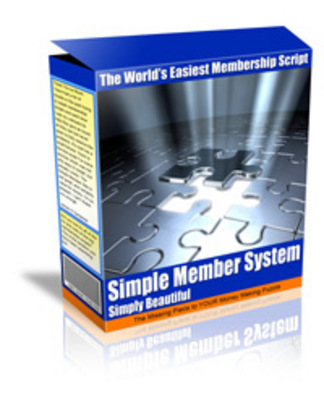 Pay for NEW!* Simple Member System  MRR*