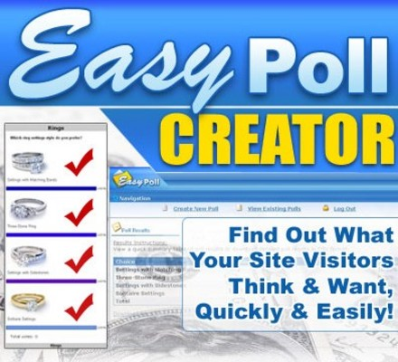 Pay for NEW* Easy Poll Creator With Resell Rights