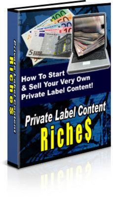 Pay for NEW!* Private Label Content Riches  With PLR