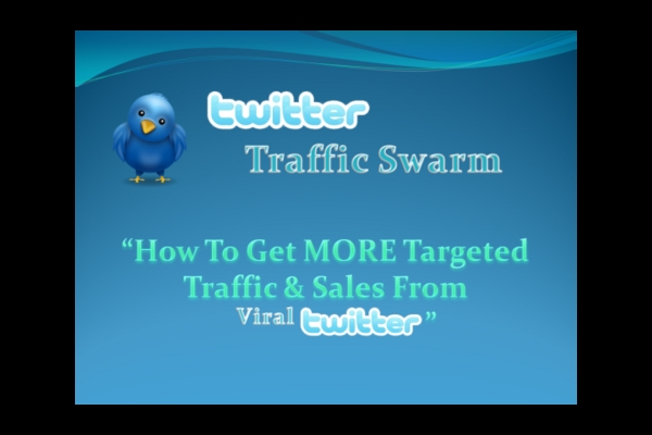 Pay for Twitter Traffic Swarm Tutorials Videos Master Resell Rights