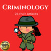 Thumbnail Criminology - Private Label Rights PLR Articles on Tradebit