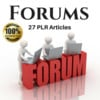 Thumbnail Forums - PLR Private label Rights Articles, (Blog content)