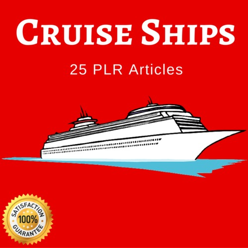 Pay for Cruise Ships- PLR Private Label Rights Articles on Tradebit