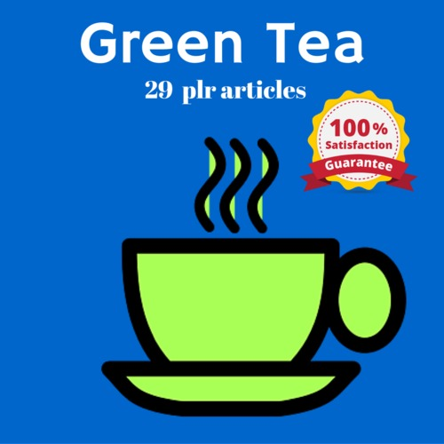 Pay for Green Tea - MRR PLR Private Label rights Articles