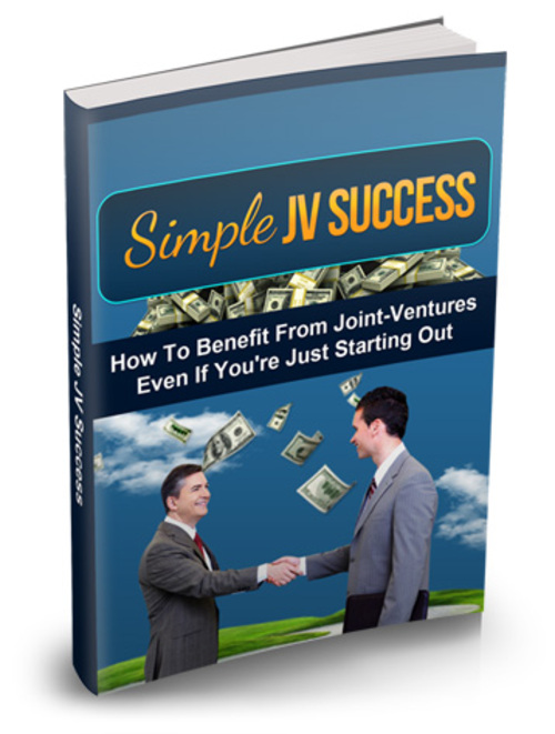 Pay for How To Benefit From Joint Ventures Simple JV Success