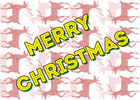 Thumbnail Merry Christmas and Reindeer Background