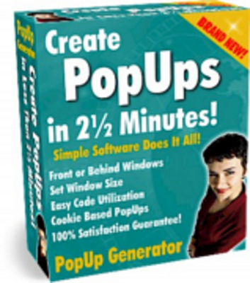 Pay for create pop-ups in 2-5mins