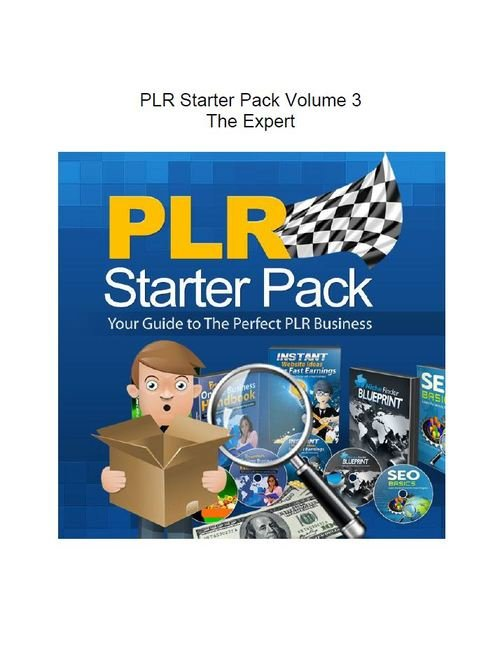 Pay for PLR Starter Pack Volume 3 - The Expert (Part of a set of 3)