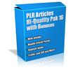 Thumbnail Buy PLR Articles Hi-Quality Pack 16 with Bonus