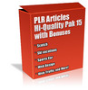 Thumbnail Buy Plr Articles Hi-quality Pack 15 With Bonus