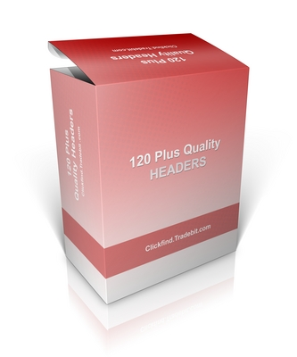 Pay for Buy Website Graphics - 120 Plus Headers *New*