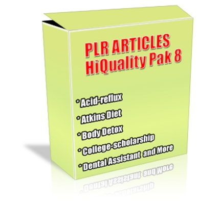 Pay for Buy PLR Articles Hi-Quality Pack 8 with Bonus