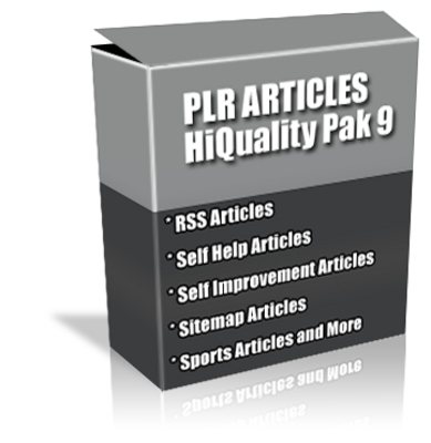 Pay for Buy PLR Articles Hi-Quality Pack 9 with Bonus