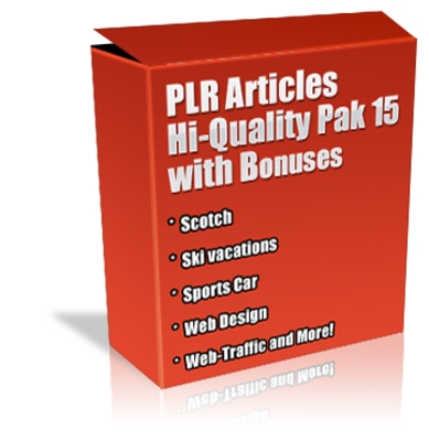 Pay for Buy Plr Articles Hi-quality Pack 15 With Bonus