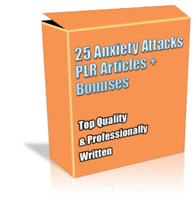 Pay for Buy 25 Anxiety Attacks PLR Articles *NEW* +Bonuses