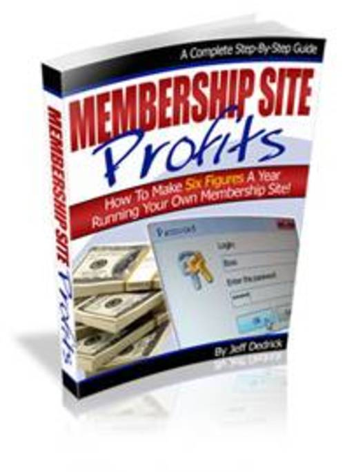 Pay for MEMBERSHIP WEBSITE PROFITS SYSTEM