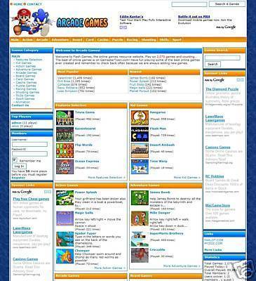 Pay for TURNKEY ARCADE WEBSITE SCRIPT With 2,010 GAMES