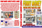Thumbnail Funny money novelty bank notes and uk driving licence