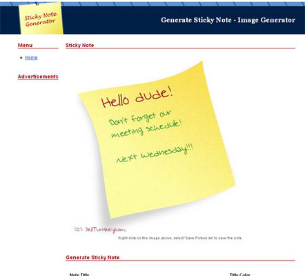 Pay for Turnkey Script: Sticky Note Generator