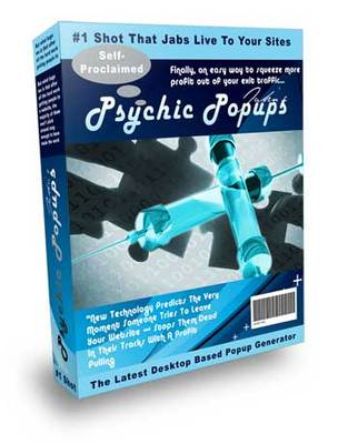 Pay for Psychic Pop software Pop up box to improve your conversion