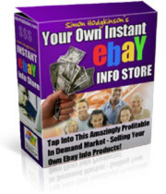 Pay for Your Own Instant Ebay Info Store
