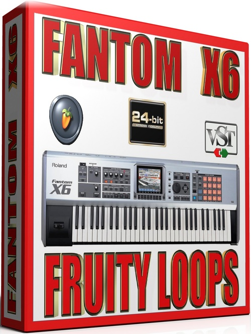 Pay for ROLAND FANTOM X6 Samples for FRUITY LOOPS 57 GB 24-BIT