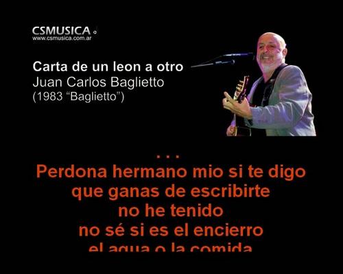 Pay for Juan Carlos Baglietto - Carta de un leon a otro - karaoke