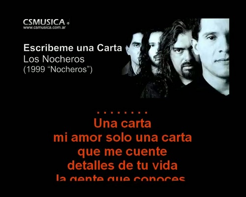 Pay for Los Nocheros - Escribeme una carta - karaoke