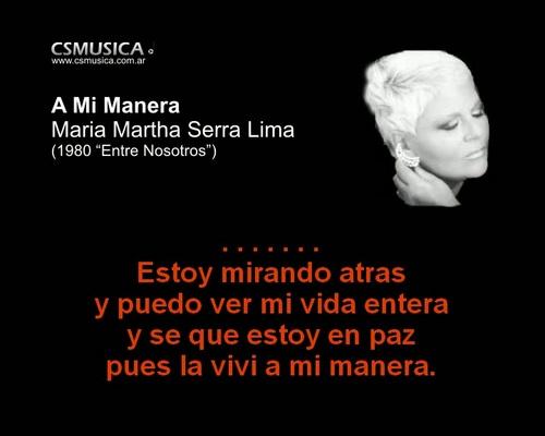 Pay for Maria Martha Serra Lima - A mi manera - karaoke