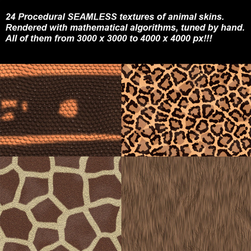 Pay for Ultra High Animal Skins Seamless Textures