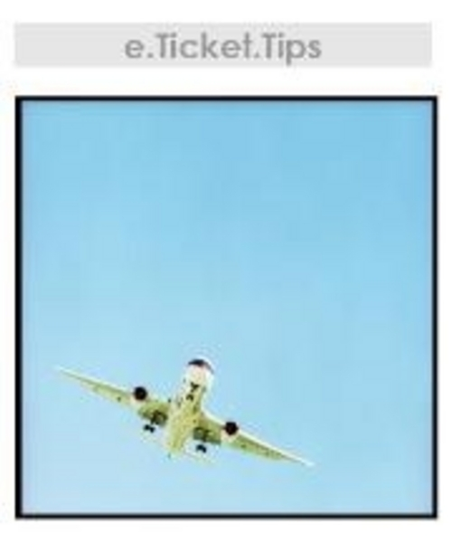 Pay for e-Ticket Cheap Travel Tips