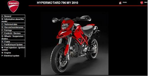 Pay for Ducati Hypermotard 796 Service Repair Manual 2010