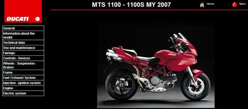 Pay for Ducati Multistrada MTS 1100 Service Repair Manual 2007