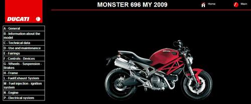 ducati monster 696 service repair manual 2009 download manuals a rh tradebit com ducati monster 696 workshop manual free ducati monster 696 service manual pdf