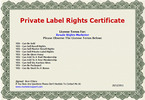 Thumbnail Resell Rights License Maker Software with PLR
