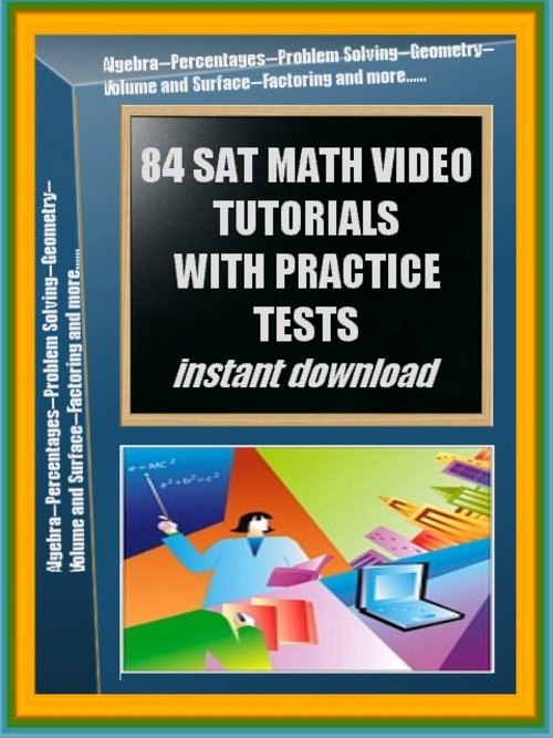 Pay for 84 SAT Practice Math Video Tutorials - large file 4.7 GB