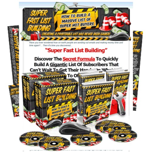 Pay for Super Fast List Building 12 Video Tutorials Resell MRR
