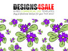Thumbnail Daisy Flowers Purple Pattern For Sale