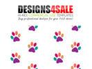 Thumbnail Colorful Paws (Prints) Path Pattern Templates