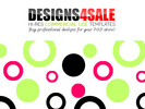 Thumbnail Fun Circles Pink Green Pattern For Sale