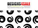 Thumbnail Fun Swirls in Black Pattern For Sale